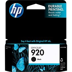 HP 920 Black Ink Cartridge - HP Genuine OEM (Black)
