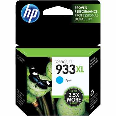 HP 933XL Cyan Ink Cartridge - HP Genuine OEM (Cyan)