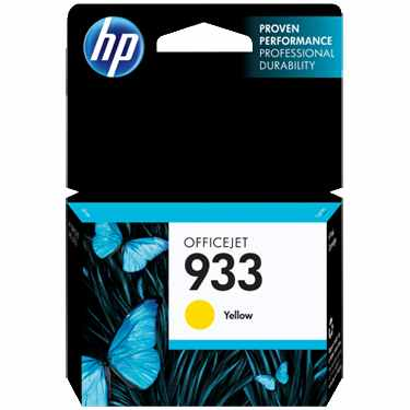 HP 933 Yellow Ink Cartridge - HP Genuine OEM (Yellow)
