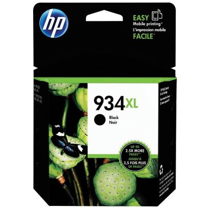 HP 934XL Black Ink Cartridge - HP Genuine OEM (Black)