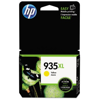 HP 935XL Yellow Ink Cartridge - HP Genuine OEM (Yellow)
