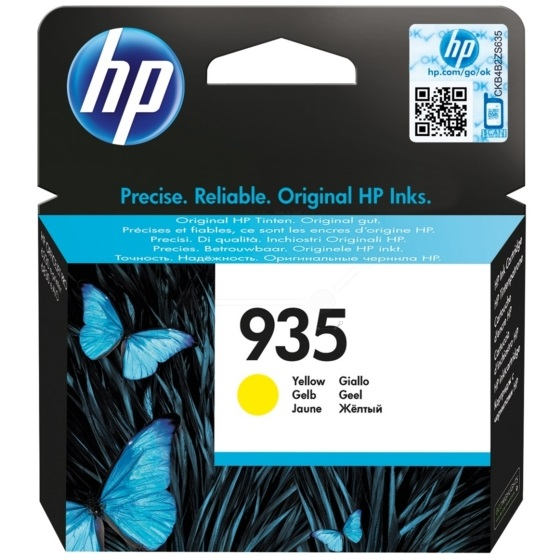 HP 935 Yellow Ink Cartridge - HP Genuine OEM (Yellow)