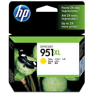 HP 951XL Yellow Ink Cartridge - HP Genuine OEM (Yellow)