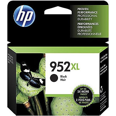 HP 952XL Black Ink Cartridge - HP Genuine OEM (Black)