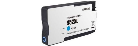HP 952XL Cyan Ink Cartridge - HP Remanufactured (Cyan)