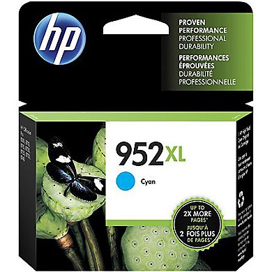 HP 952XL Cyan Ink Cartridge - HP Genuine OEM (Cyan)
