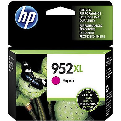 HP 952XL Magenta Ink Cartridge - HP Genuine OEM (Magenta)