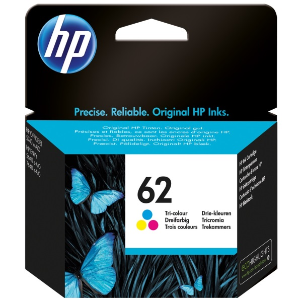 HP 62 Tricolor Ink Cartridge - HP Genuine OEM (Tricolor)