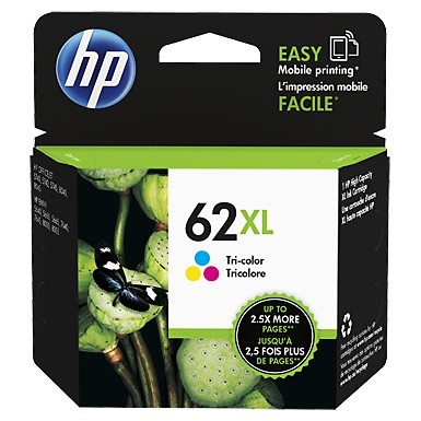 HP 62XL Tricolor Ink Cartridge - HP Genuine OEM (Tricolor)