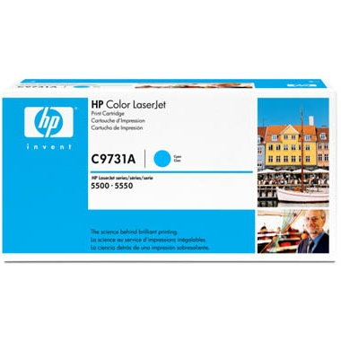 C9731A Toner Cartridge - HP Genuine OEM (Cyan)