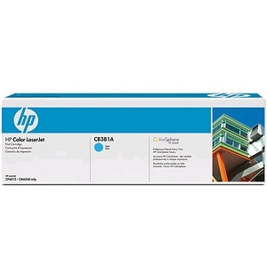 CB381A Toner Cartridge - HP Genuine OEM (Cyan)