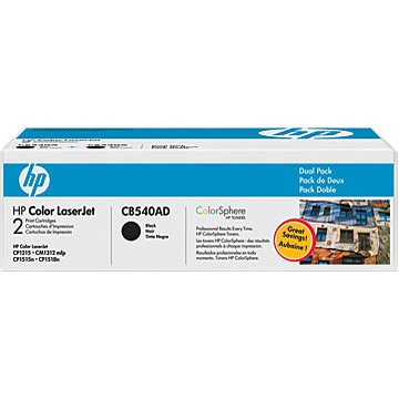 CB540AD Toner Cartridges - HP Genuine OEM (Black)