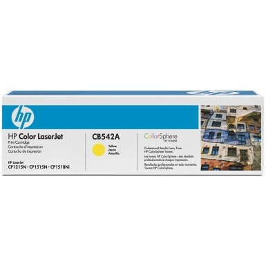 CB542A Toner Cartridge - HP Genuine OEM (Yellow)