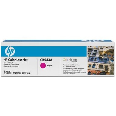 CB543A Toner Cartridge - HP Genuine OEM (Magenta)