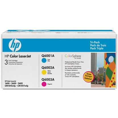 CE257A Toner Cartridges - HP Genuine OEM (Cyan, Magenta, and Yellow)