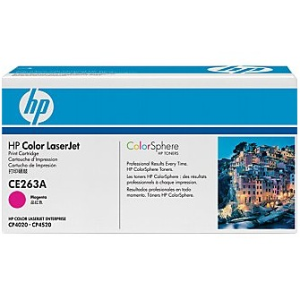 CE263A Toner Cartridge - HP Genuine OEM (Magenta)