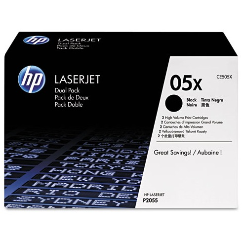 CE505XD Toner Cartridge - HP Genuine OEM (Multipack)