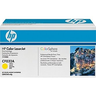 CF032A Toner Cartridge - HP Genuine OEM (Yellow)