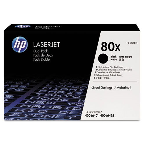 CF280XD Toner Cartridge - HP Genuine OEM (Multipack)