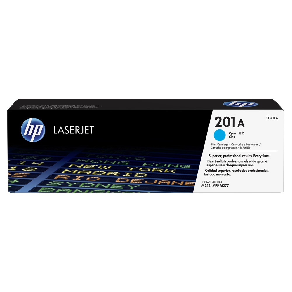 CF401A Toner Cartridge - HP Genuine OEM (Cyan)