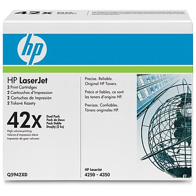 Q5942XD Toner Cartridges - HP Genuine OEM (Black)