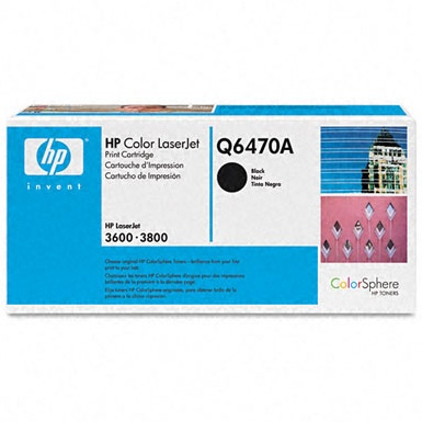 Q6470A Toner Cartridge - HP Genuine OEM (Black)