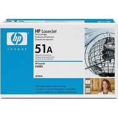 Q7551A Toner Cartridge - HP Genuine OEM (Black)
