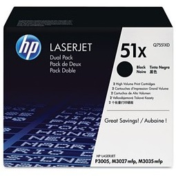 Q7551XD Toner Cartridges - HP Genuine OEM (Black)
