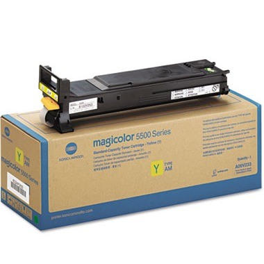 A06V233 Toner Cartridge - Konica-Minolta Genuine OEM (Yellow)
