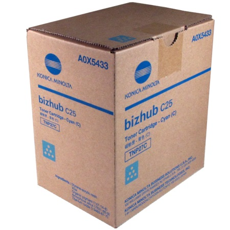 A0X5433 Toner Cartridge - Konica-Minolta Genuine OEM (Cyan)
