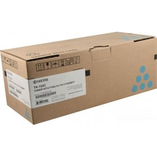 TK-152C Toner Cartridge - Kyocera Mita Genuine OEM (Cyan)