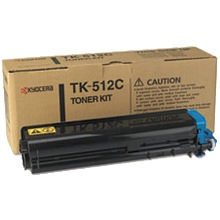 TK-512C Toner Cartridge - Kyocera Mita Genuine OEM (Cyan)