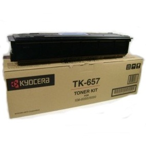 TK-657 Toner Cartridge - Kyocera Mita Genuine OEM (Black)