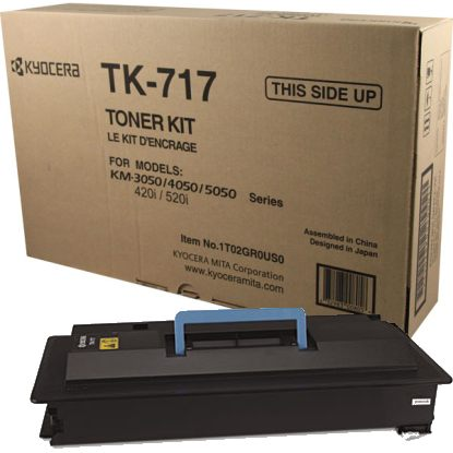 TK-717 Toner Cartridge - Kyocera Mita Genuine OEM (Black)
