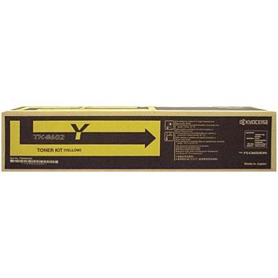 TK-8602Y Toner Cartridge - Kyocera Mita Genuine OEM (Yellow)