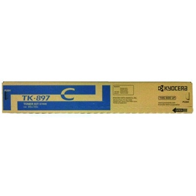 TK-897C Toner Cartridge - Kyocera Mita Genuine OEM (Cyan)