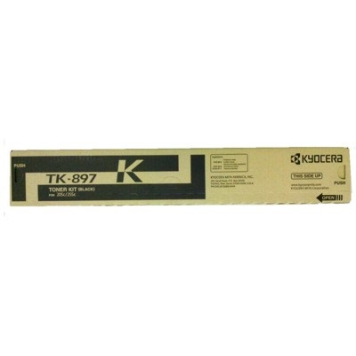 TK-897K Toner Cartridge - Kyocera Mita Genuine OEM (Black)