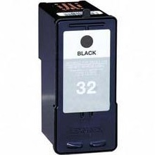Lexmark #32 Ink Cartridge - Lexmark Remanufactured  (Black)