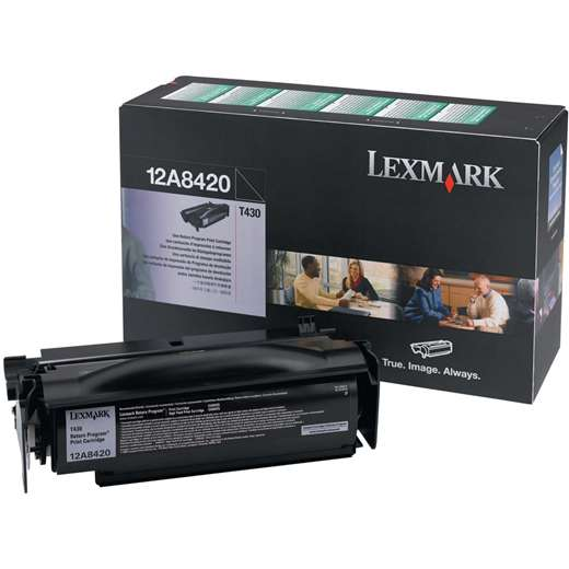 12A8420 Toner Cartridge - Lexmark Genuine OEM (Black)