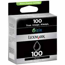 Lexmark #100 Black Ink Cartridge - Lexmark Genuine OEM (Black)