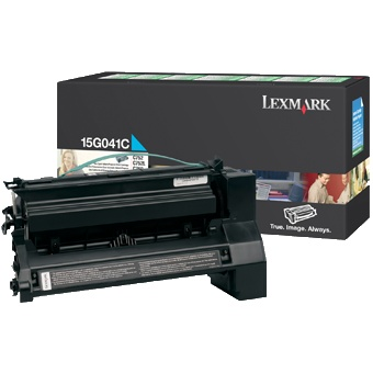 15G041C Toner Cartridge - Lexmark Genuine OEM (Cyan)