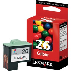 Lexmark #26 Ink Cartridge - Lexmark Genuine OEM (Color)