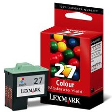 Lexmark #27 Ink Cartridge - Lexmark Genuine OEM (Color)