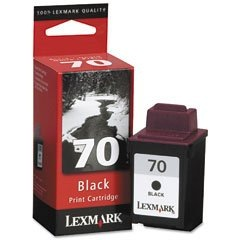 Lexmark #70 Ink Cartridge - Lexmark Genuine OEM (Black)
