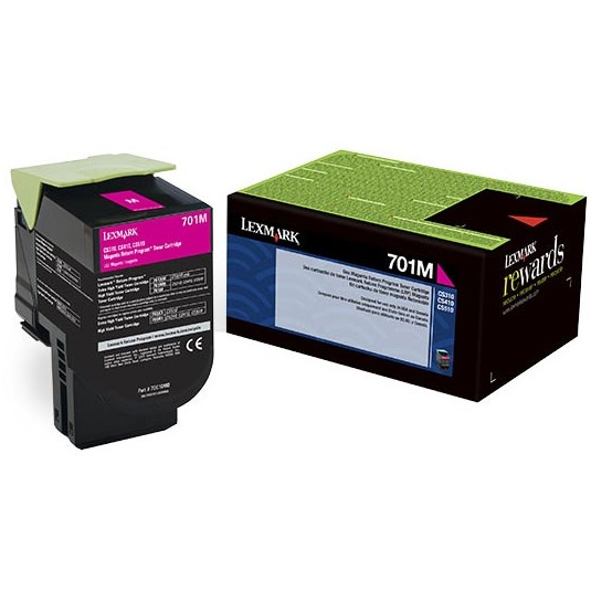 70C10M0 Toner Cartridge - Lexmark Genuine OEM (Magenta)