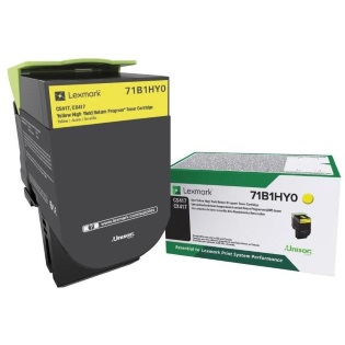 71B1HY0 Toner Cartridge - Lexmark Genuine OEM (Yellow)