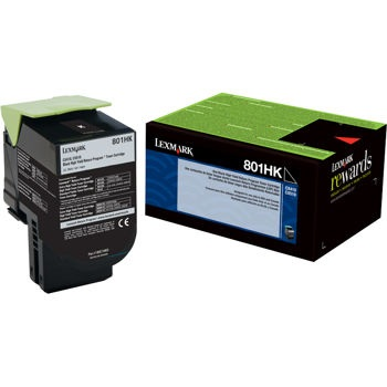 80C1HK0 Toner Cartridge - Lexmark Genuine OEM (Black)