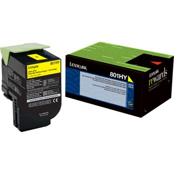 80C1HY0 Toner Cartridge - Lexmark Genuine OEM (Yellow)