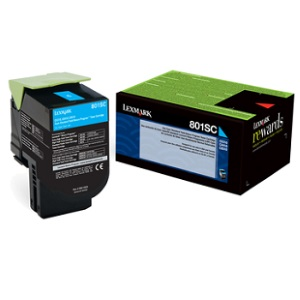 80C1SC0 Toner Cartridge - Lexmark Genuine OEM (Cyan)