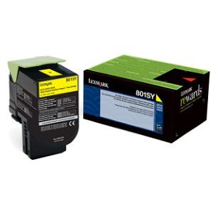 80C1SY0 Toner Cartridge - Lexmark Genuine OEM (Yellow)